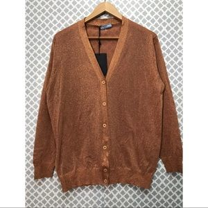 Prada sweater shiny rust color Size 42